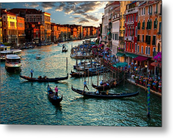 Grand Canal Sunset Metal Print