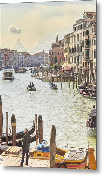 Grand Canal - The Most Famous Canal In Venice Metal Print