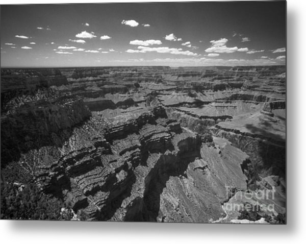 Grand Canyon Bw1 Metal Print by Stan and Anne Foster