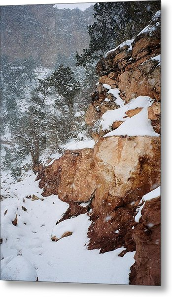 Grand Canyon In Snow Metal Print by Ruth Sharton