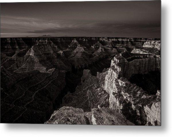 Grand Canyon Monochrome Metal Print