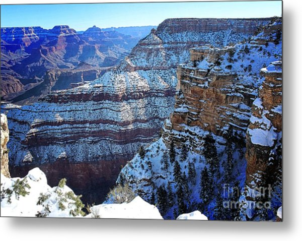 Grand Canyon National Park In Winter Metal Print