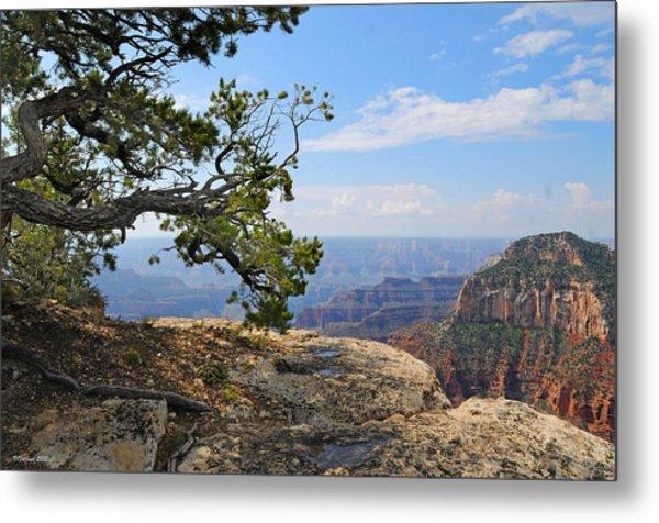 Grand Canyon North Rim Craggy Cliffs Metal Print