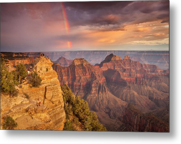 Grand Canyon North Rim Rainbow Metal Print