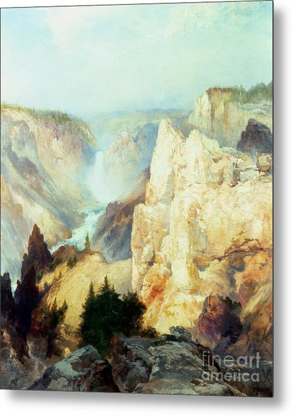 Grand Canyon Of The Yellowstone Park Metal Print