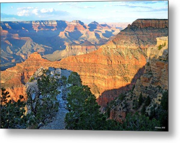 Grand Canyon South Rim At Sunset Metal Print