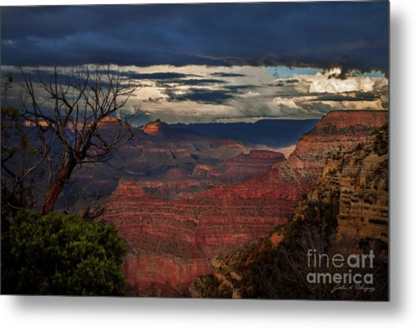 Grand Canyon Storm Clouds Metal Print