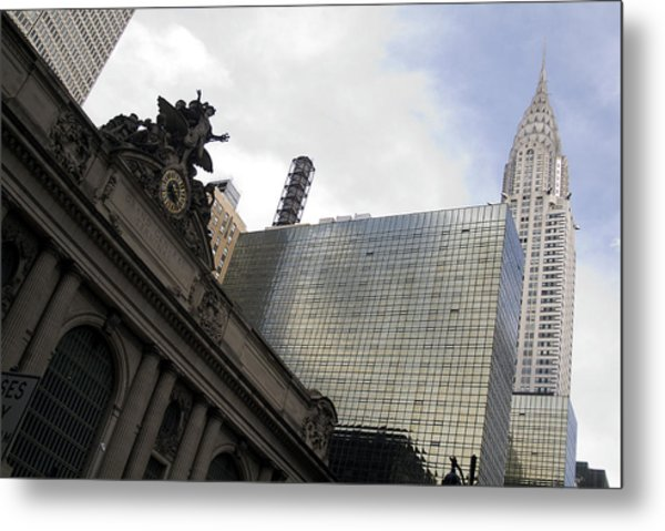 Grand Central And The Chrysler Building Metal Print