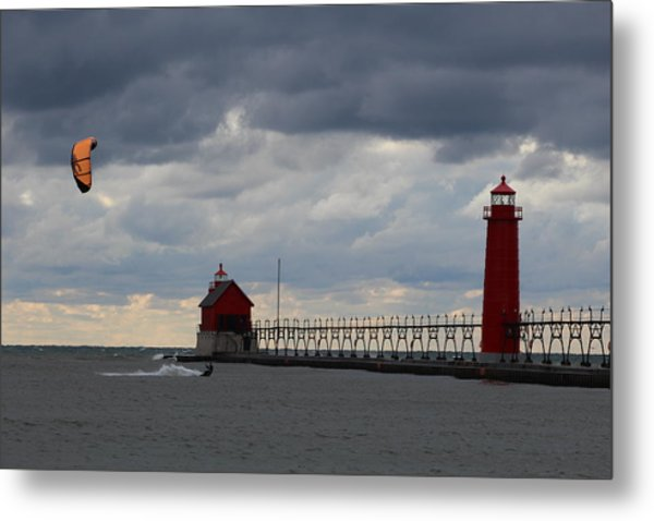 Grand Haven Wind Surfing Metal Print