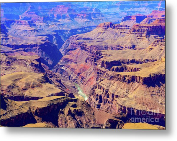 Grand Haze Canyon Metal Print