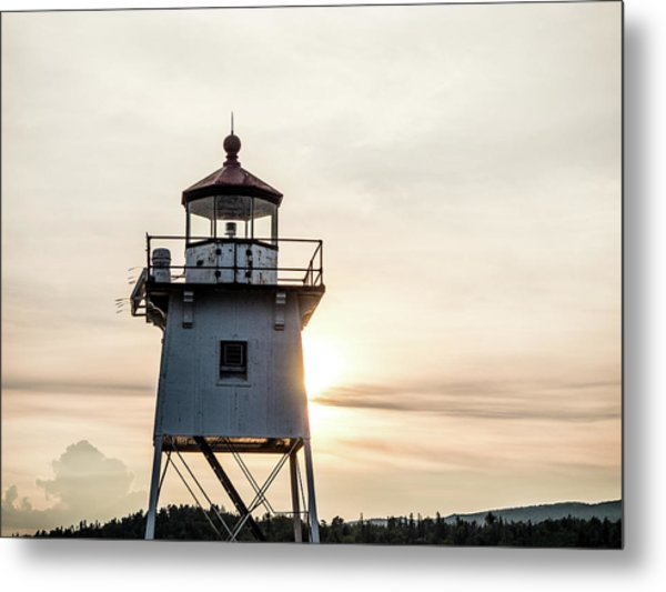 Metal Print featuring the photograph Grand Marais Lighthouse by Whitney Leigh Carlson