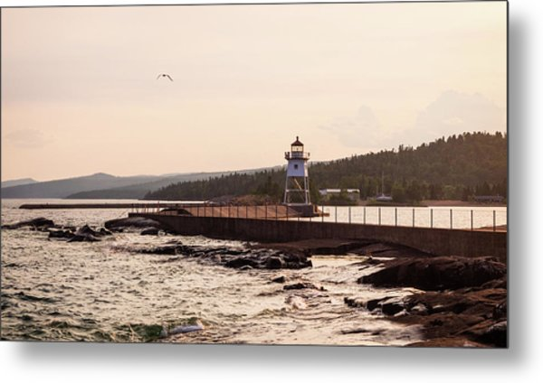 Metal Print featuring the photograph Grand Marais Shore by Whitney Leigh Carlson
