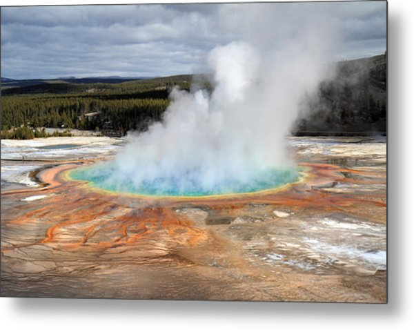 Grand Prismatic Springs In Yellowstone National Park Metal Print
