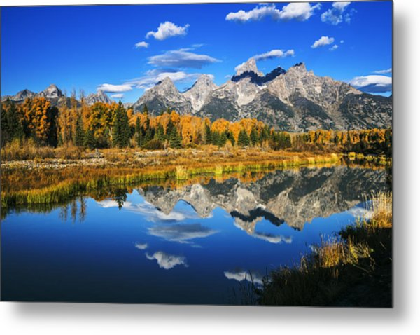 Grand Teton Autumn Beauty Metal Print