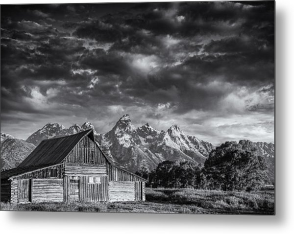 Grand Teton Barn Metal Print