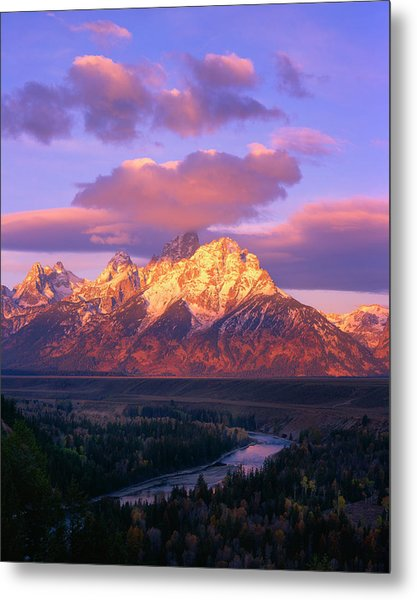 Grand Teton Sunrise Metal Print