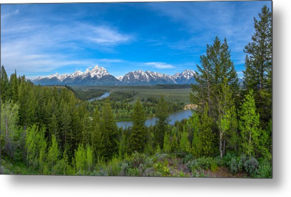 Grand Teton Vista Metal Print
