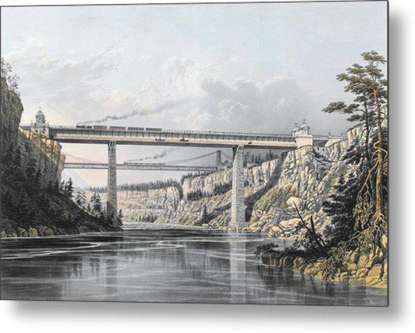 Grand Trunk Railway Of Canada  The Victoria Bridge Metal Print