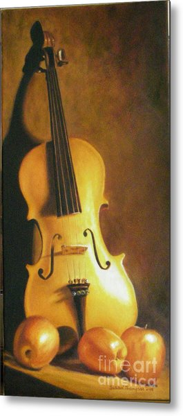 Grandfathers Fiddle Metal Print