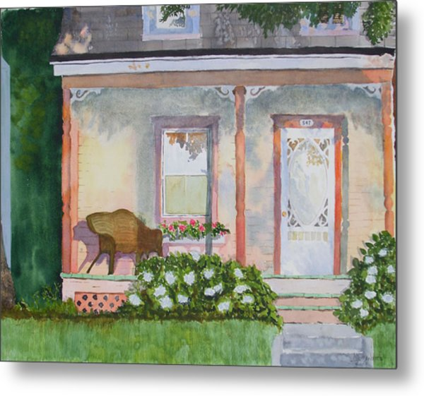Grandma's Front Porch Metal Print by Ally Benbrook