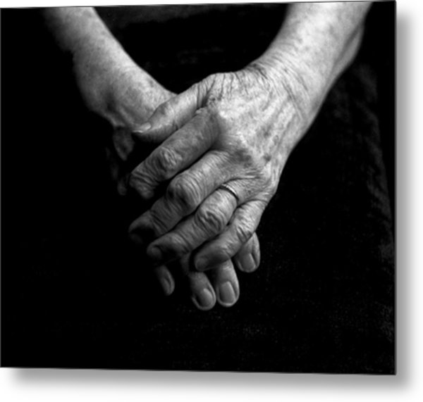 Grandmother's Hands Metal Print by Todd Fox