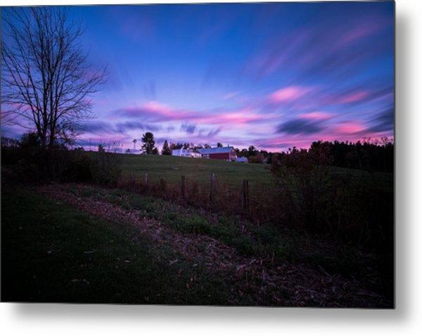 Grandview Farm Sunset Metal Print