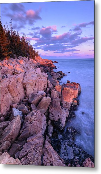 Granite Coastline Metal Print