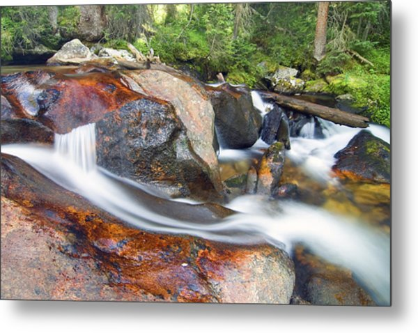 Metal Print featuring the photograph Granite Falls by Gary Lengyel