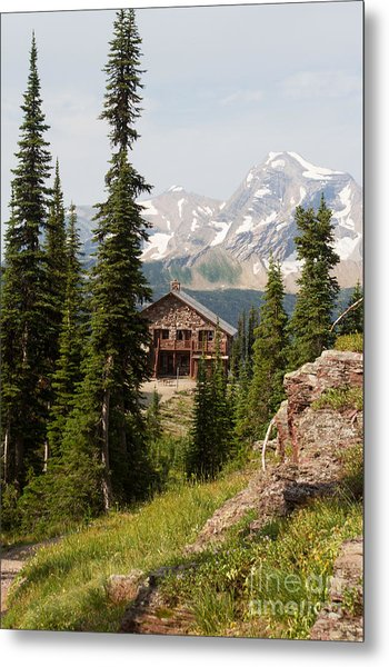 Metal Print featuring the photograph Granite Park Chalet And Heaven's Peak 2 by Katie LaSalle-Lowery