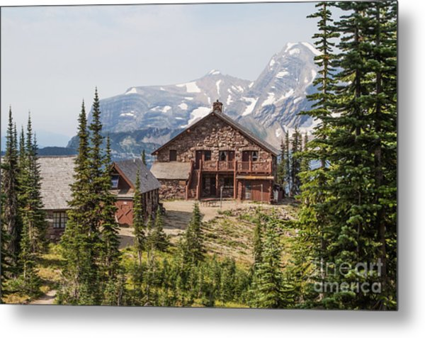 Metal Print featuring the photograph Granite Park Chalet And Heaven's Peak 3 by Katie LaSalle-Lowery