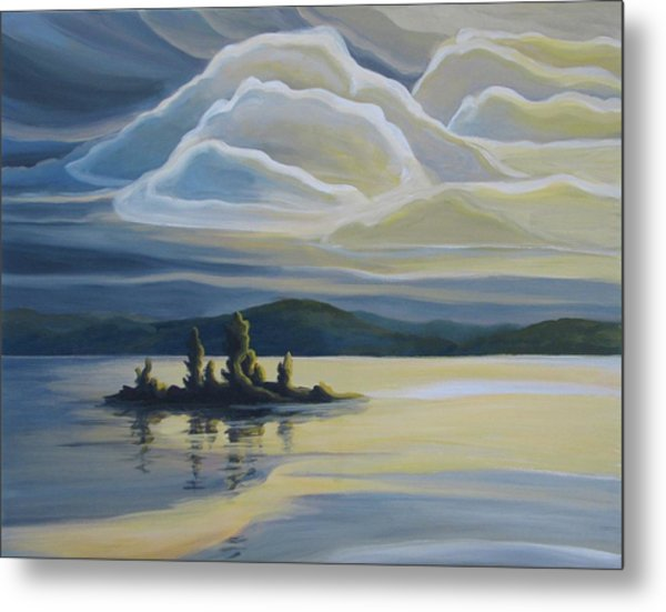 Grape Island Metal Print