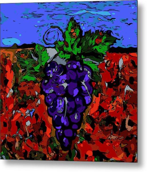 Grape Jazz Digital Metal Print