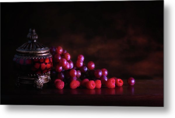 Grape Raspberry Metal Print