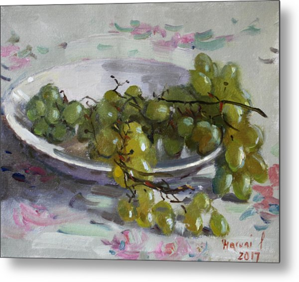 Grapes From Lida's Garden Metal Print