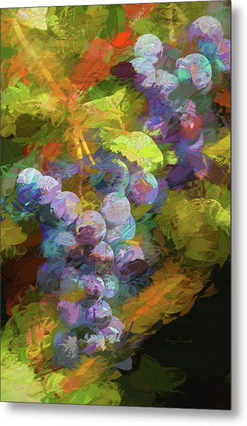 Metal Print featuring the photograph Grapes In Abstract by Penny Lisowski