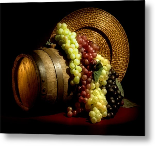 Grapes Of Wine Metal Print