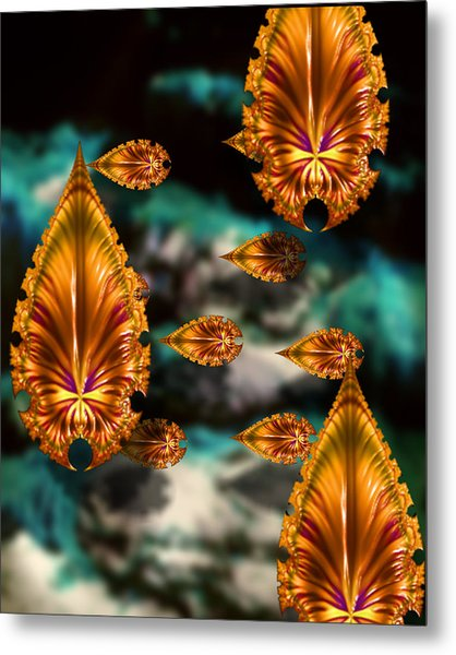 Graphic Number One Metal Print by Roger Soule