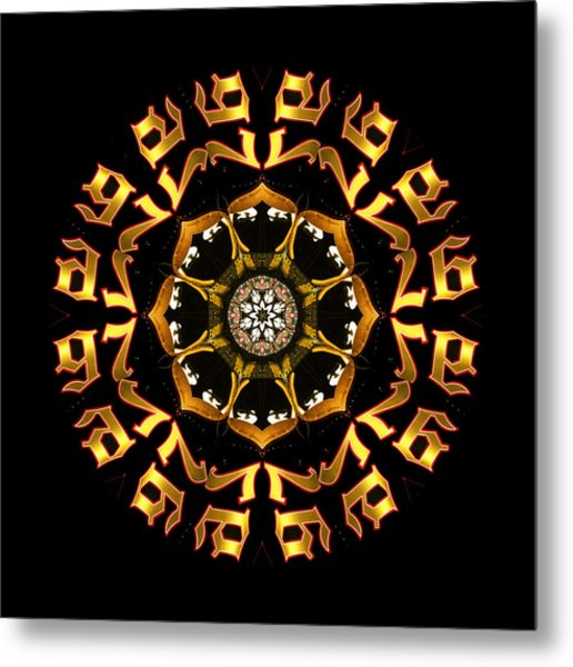 Graphic Number Three Metal Print by Roger Soule