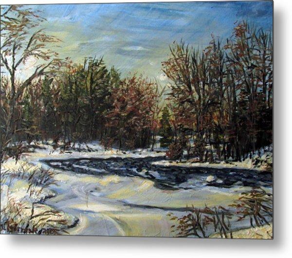 Grasse River In January Metal Print