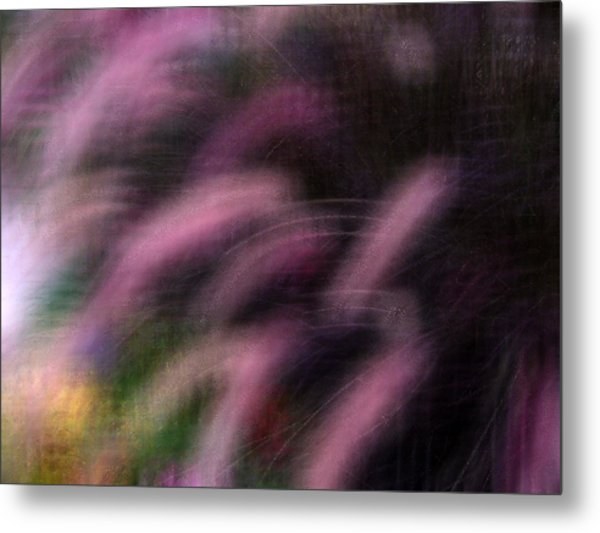 Grasses Metal Print by Eileen Shahbazian