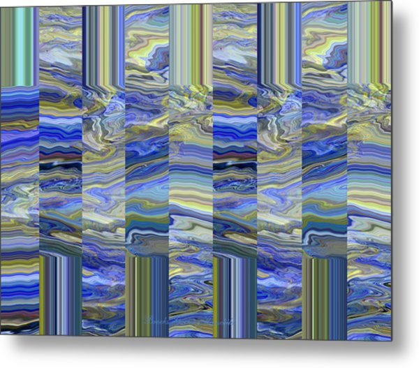 Grate Art - Blue And Green Images - Manipulated Photography Metal Print