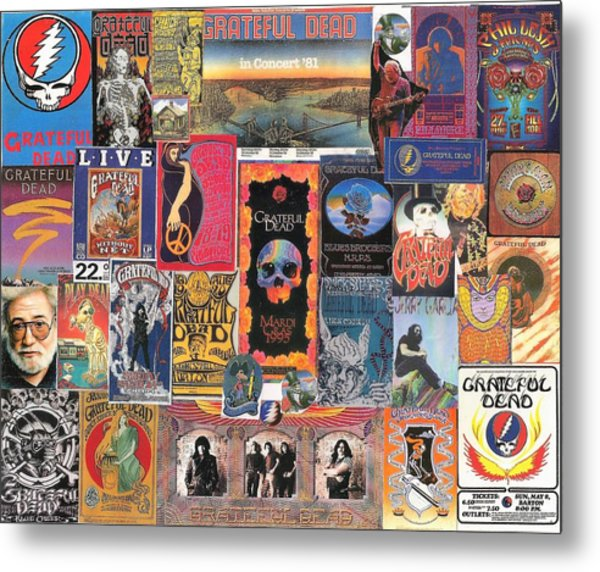 Grateful Dead Collage Metal Print