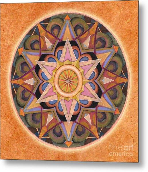 Gratitude Mandala Metal Print