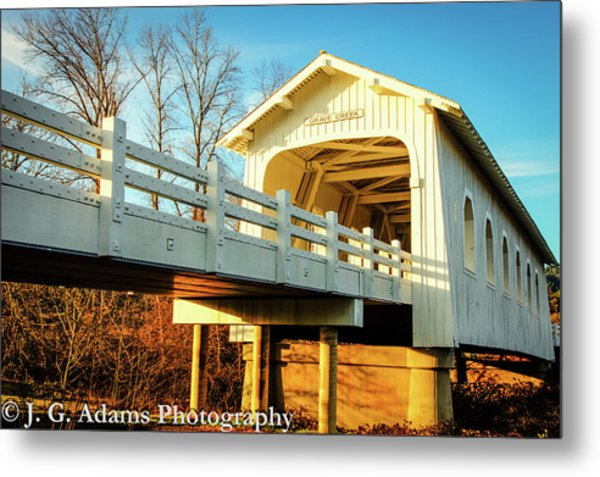 Metal Print featuring the photograph Grave Creek Covered Bridge by Jim Adams