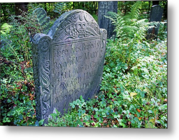 Grave Of Mary Hall Metal Print