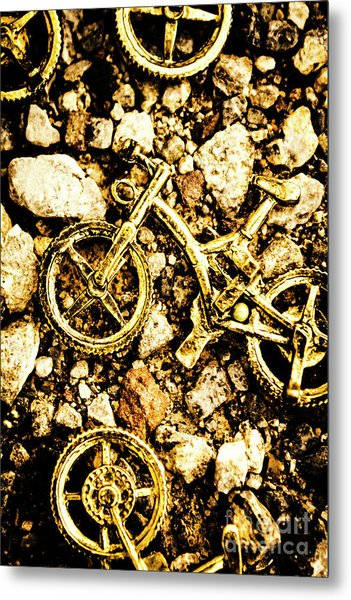 Gravel Bikes Metal Print