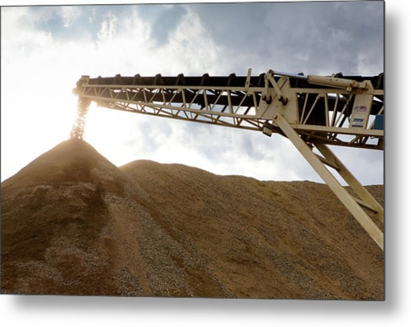 Metal Print featuring the photograph Gravel Mountain 2 by David Buhler