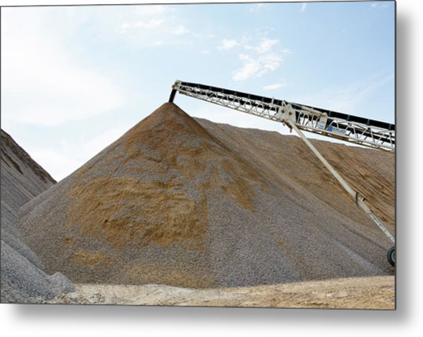 Metal Print featuring the photograph Gravel Mountain by David Buhler
