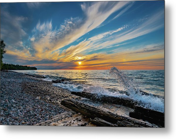 Graveyard Coast Sunset Metal Print