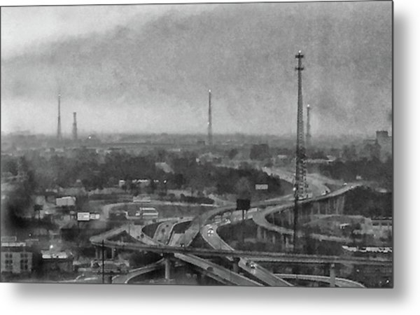 Gray Day In The City Metal Print